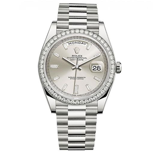 7e78ab44bca Rolex Oyster Perpetual Day-Date 40 White Gold Diamond Bezel - Nemaro ...